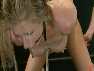 Sexy babe with beautifull eyes and perky tits gets spanked and tied before getting fucked